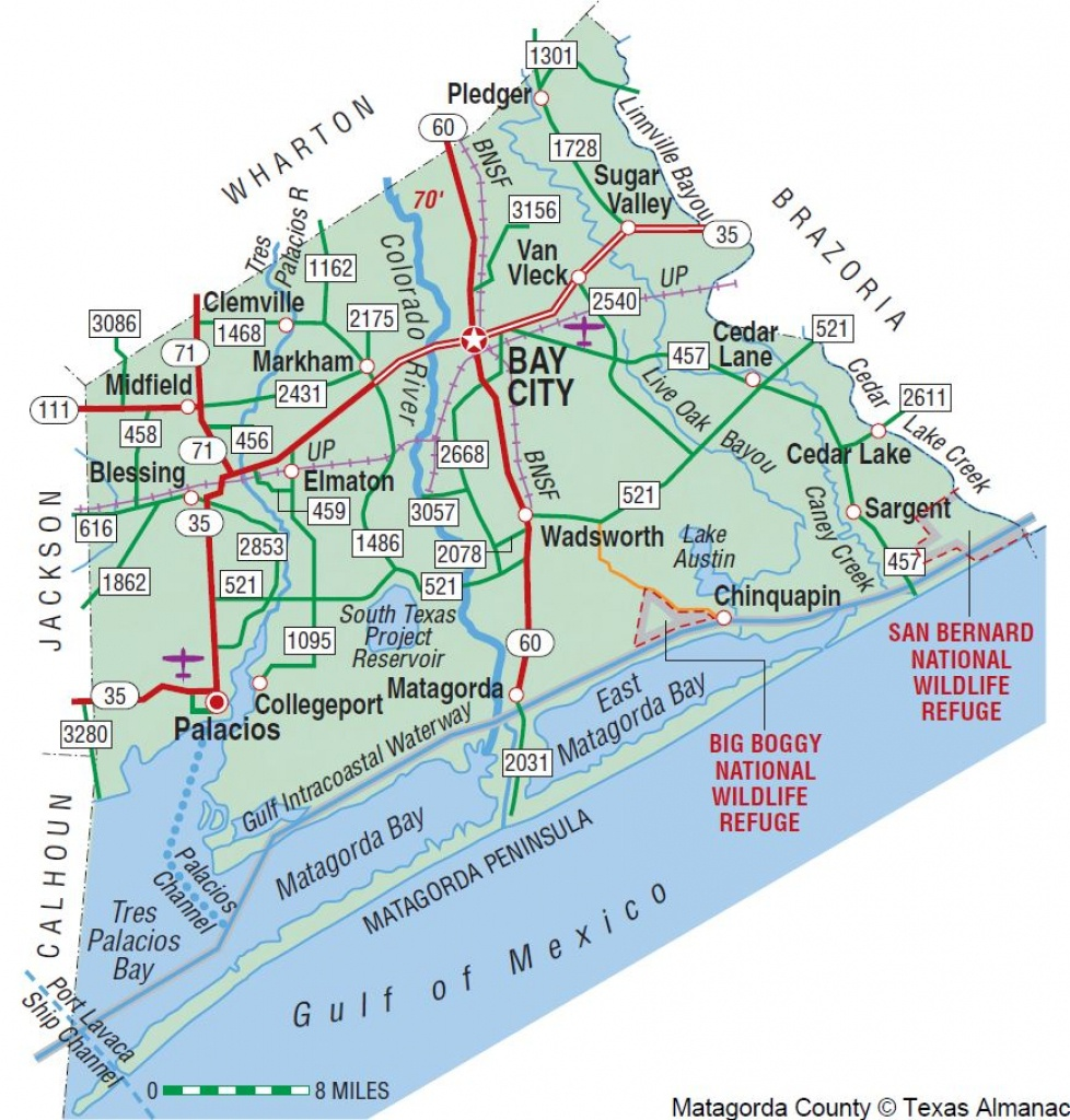 Matagorda County | The Handbook Of Texas Online| Texas State - Texas Navigable Waterways Map