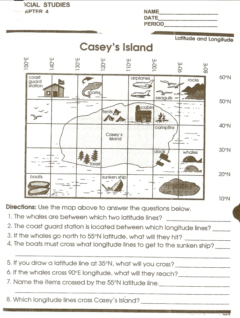 Math : Map Reading Worksheets Map Reading Worksheets High School - Map Reading Quiz Printable