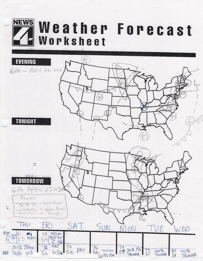 Math : Map Reading Worksheets Map Reading Worksheets High School - Weather Map Worksheets Printable