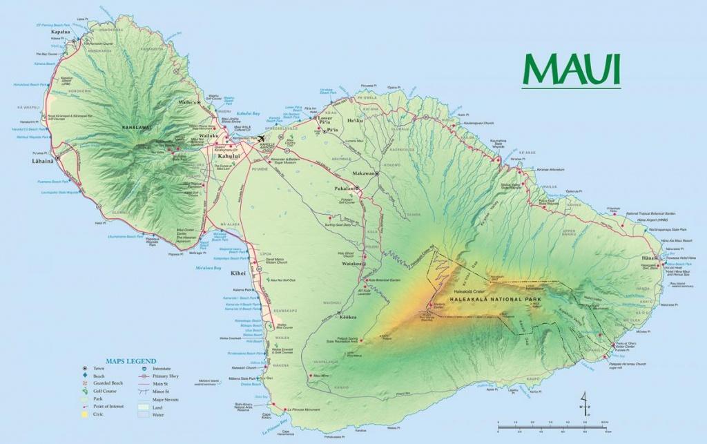 Maui Maps | Go Hawaii - Printable Road Map Of Kauai