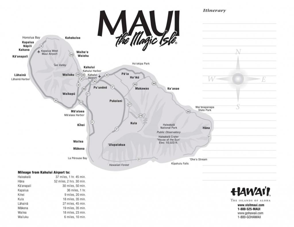 Maui Maps Printable | Scope Of Work Template Mileage | Hawaii | Maui - Maui Road Map Printable