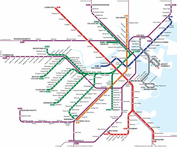 Mbta Subway Map Printable