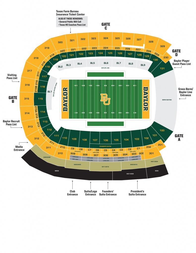 Mclane Stadium - Baylor University Athletics - University Of Texas Stadium Seating Map