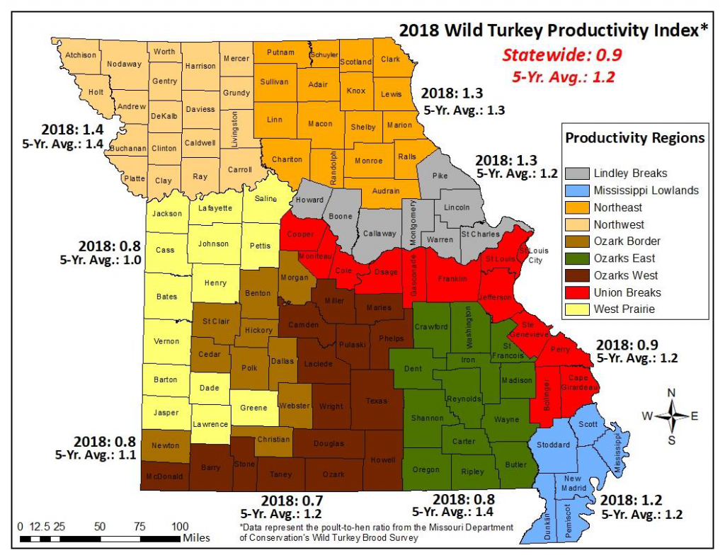 Mdc Predicts Fall Turkey Hunting Likely To Be Challenging | Missouri - Texas Public Hunting Map Booklet