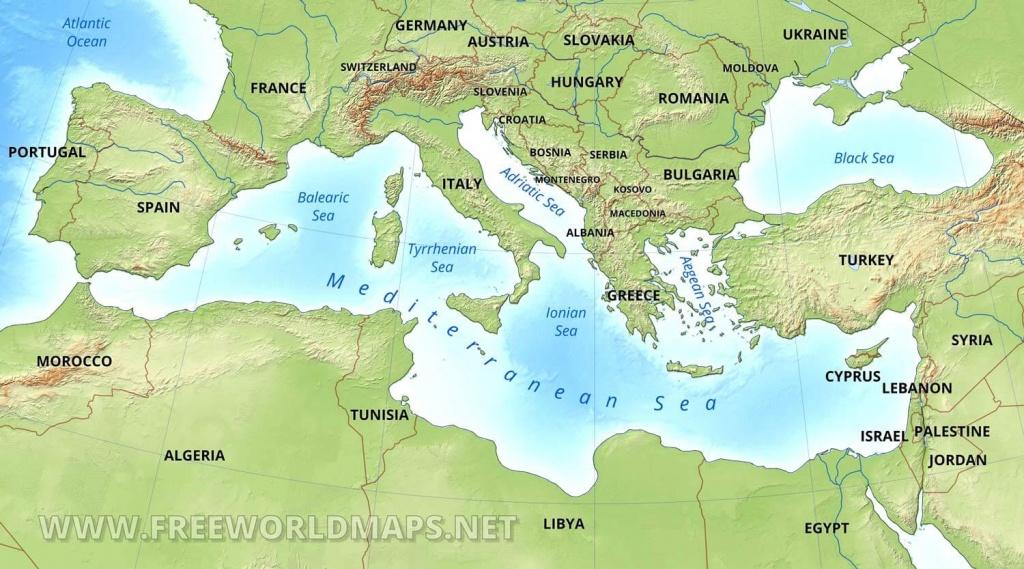 Mediterranean Map - Mediterranean Map Printable