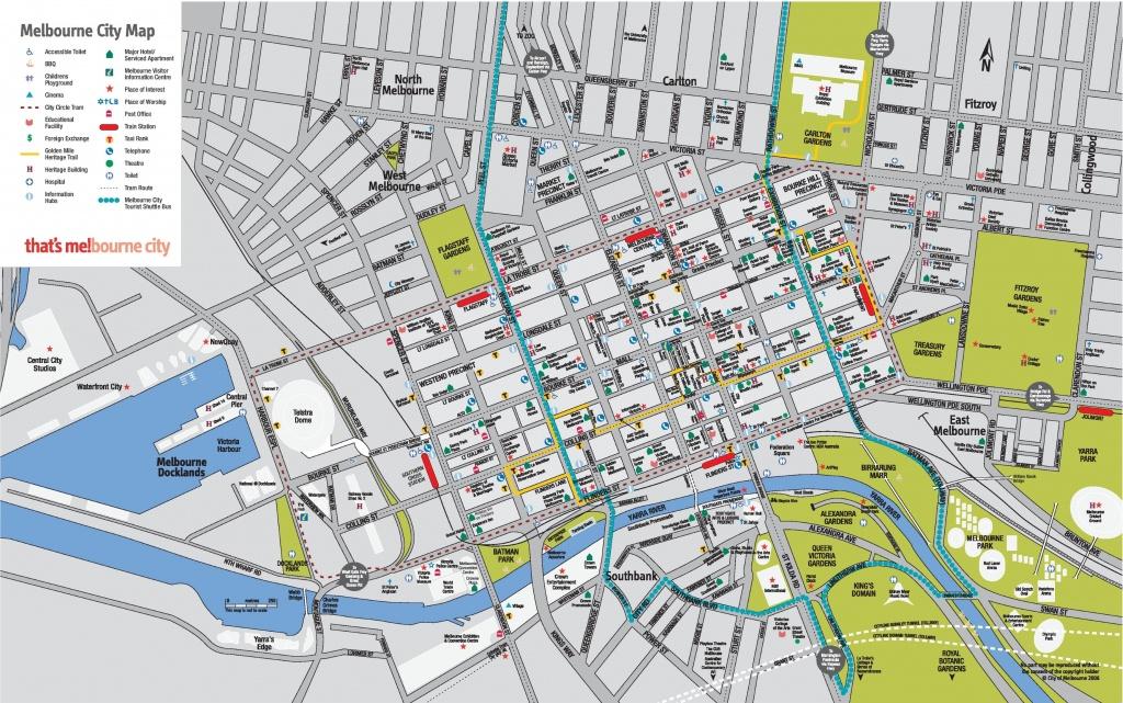 Melbourne Cbd Map - Melbourne City Map Printable