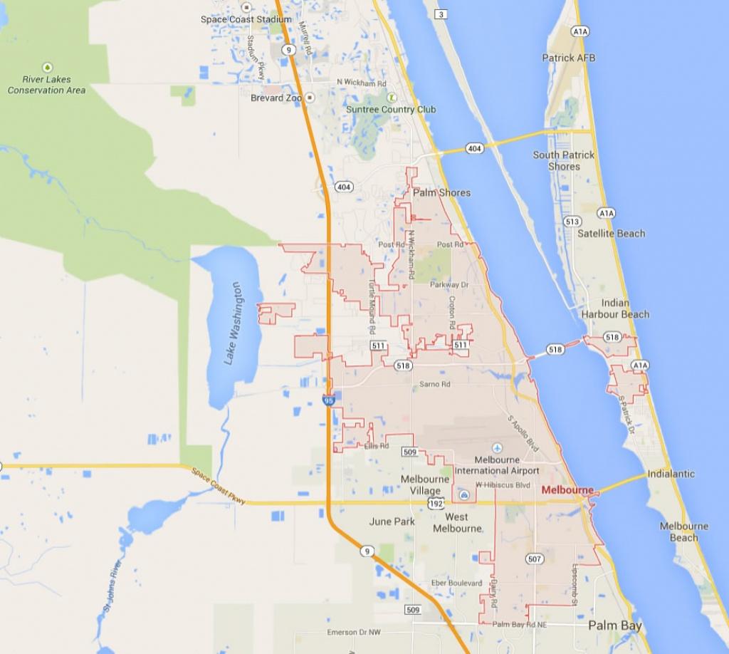 Melbourne Florida Map - Satellite Beach Florida Map