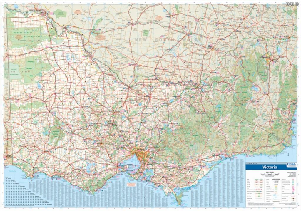 Melbourne Map Centre   Victoria   Search For: Hema Victoria State - Printable Map Of Victoria