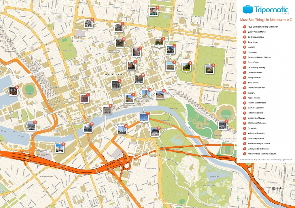 Melbourne Printable Tourist Map In 2019   Free Tourist Maps - Melbourne Tourist Map Printable