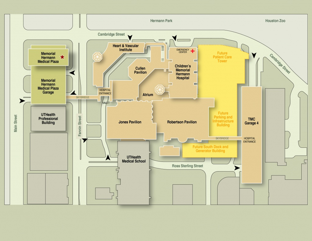 Memorial Hermann–Texas Medical Center Expansion Maps & Routes - Texas Medical Center Map