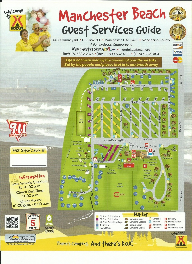 Mendocino Koa Campground Site Map | Camping Research In 2019 - California Camping Sites Map