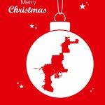 Merry Christmas Theme With Map Of Tampa Florida Vector Image   Christmas Florida Map