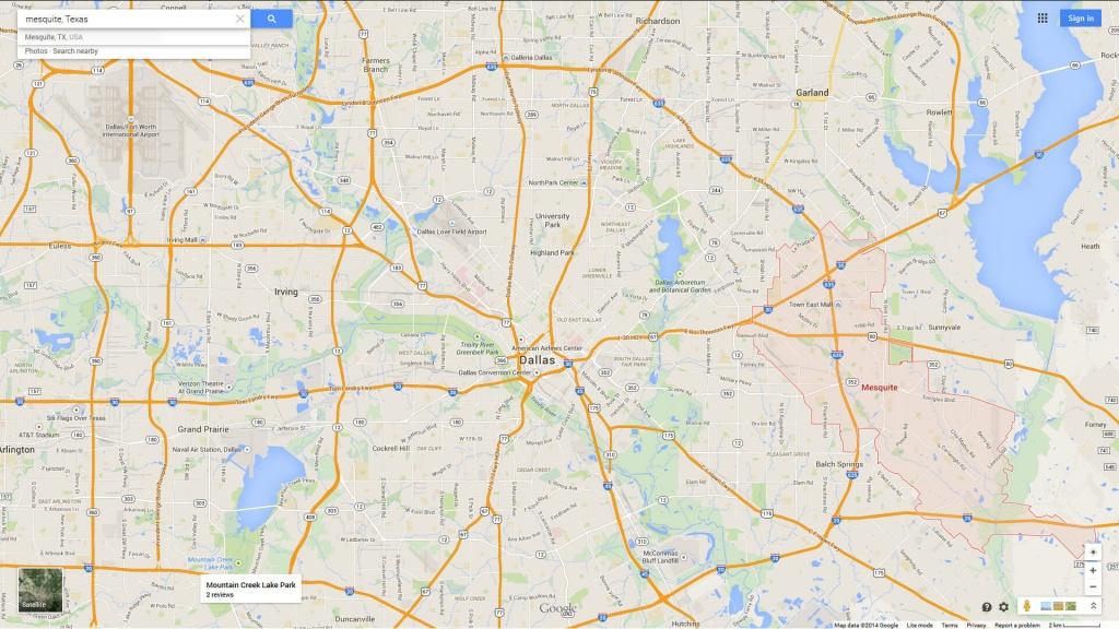 Mesquite, Texas Map - Google Maps Mesquite Texas
