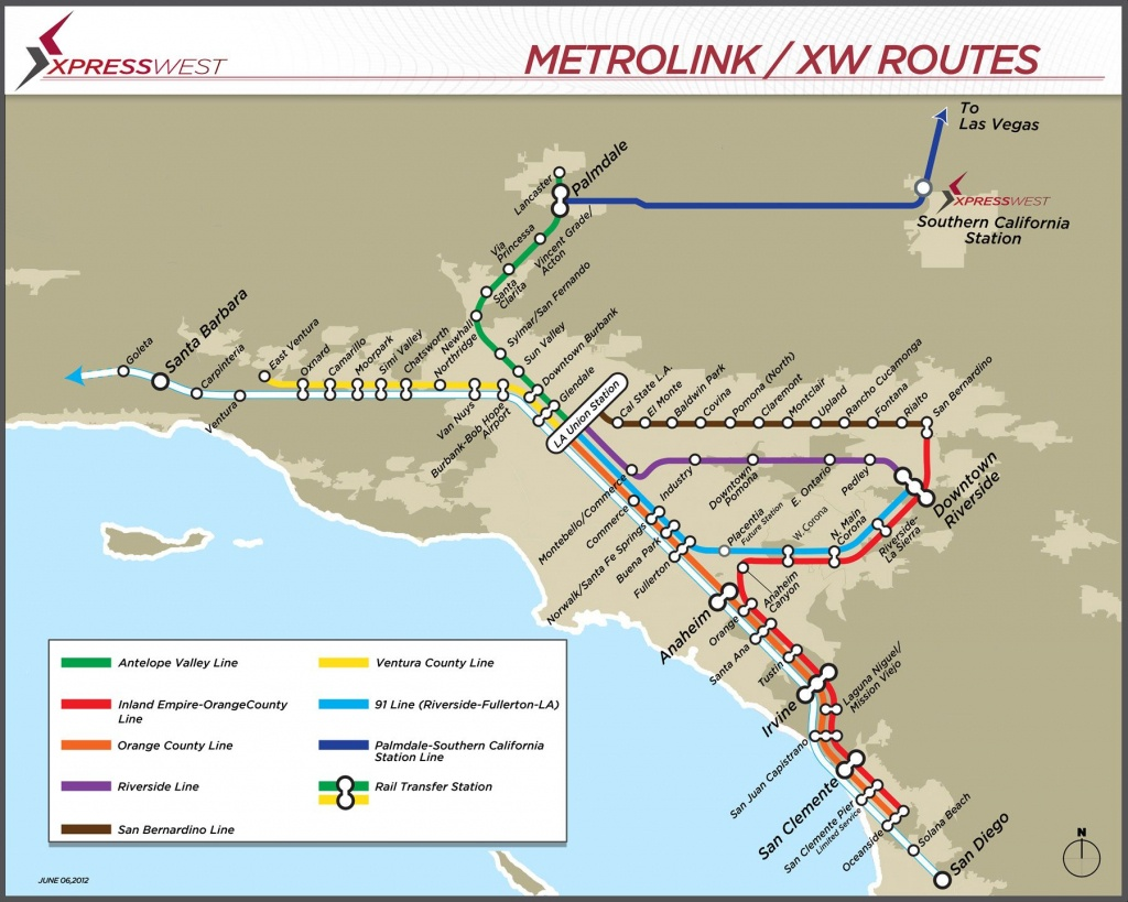 Metro Link / Xw Route   New Rail Lines   Map, High Speed Rail, Travel - Southern California Metrolink Map
