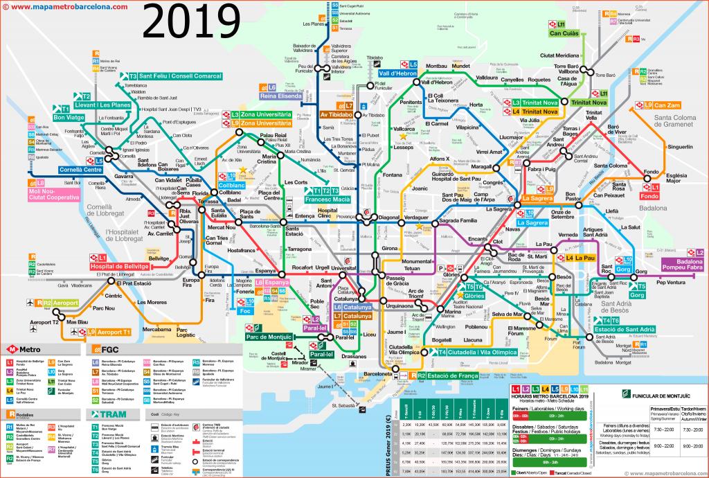 Metro Map Of Barcelona 2019 (The Best) - Metro Map Barcelona Printable