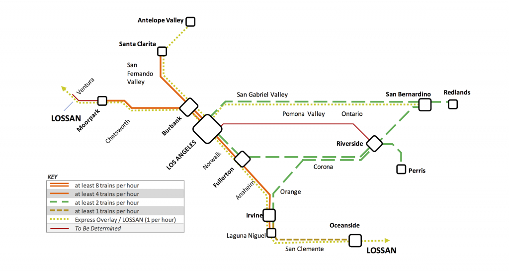 Metrolink Plans For Increased Service And Partial Electrification - Southern California Metrolink Map