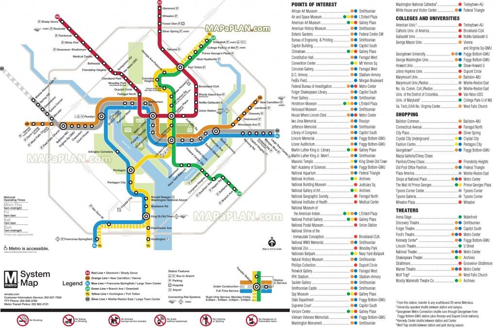 Metrorail Metro Lines Transit Subway Underground Tube Diagram - Washington Dc Subway Map Printable