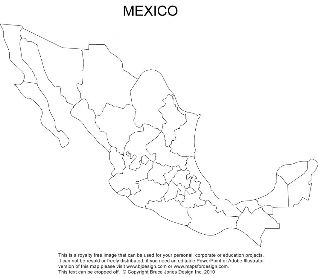 Mexico Blank Printable Map, Royalty Free, Clip Art Cc Cycle 1, Week - Printable Map Of Mexico