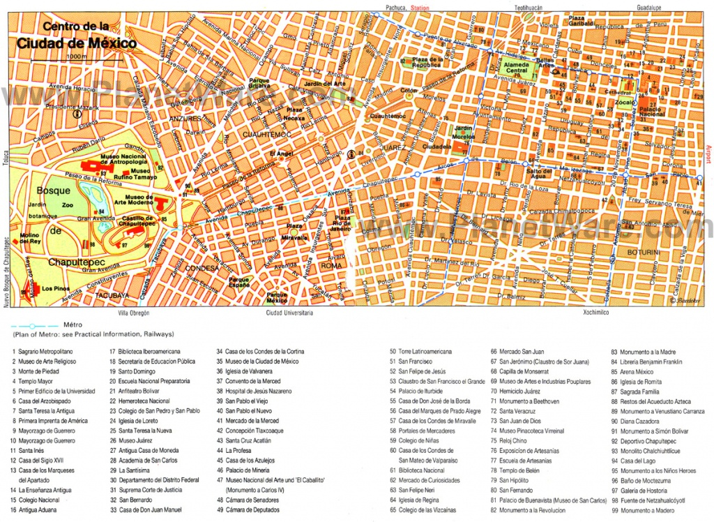 Mexico Map - Detailed City And Metro Maps Of Mexico For Download - Printable Map Of Mexico City