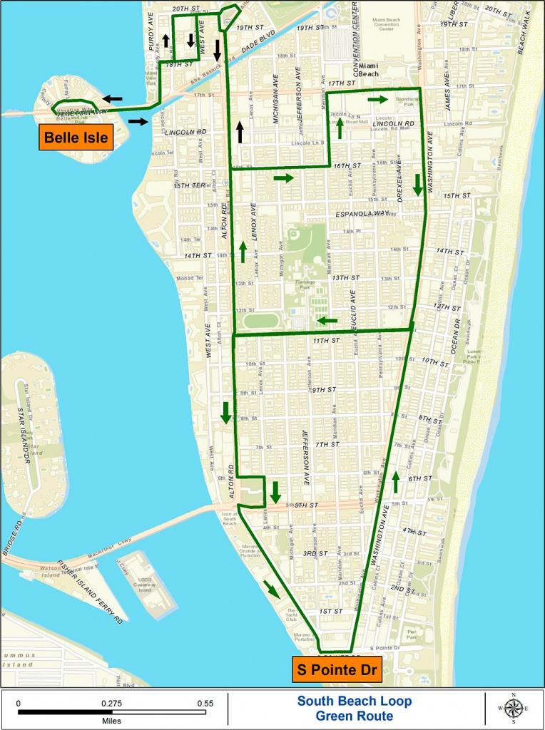 Miami Beach Free Trolley Service | South Beach Magazine - Map Of Miami Beach Florida Hotels