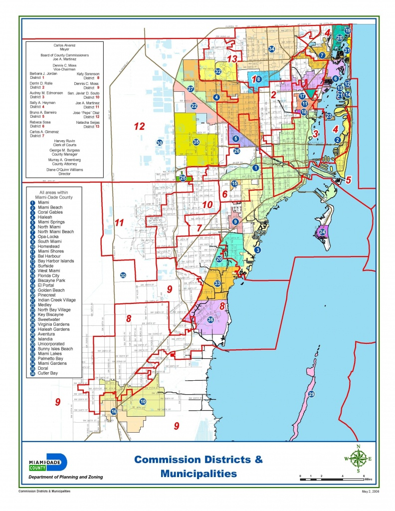 Miami-Dade Municipalities Map | Miami Real Estate Maps And Graphics - Florida Real Estate Map