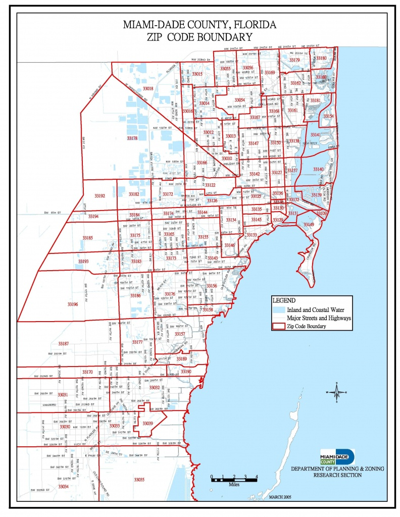 Miami-Dade Zip Code Map   Miami Real Estate Maps And Graphics In - Sunny Isles Florida Map