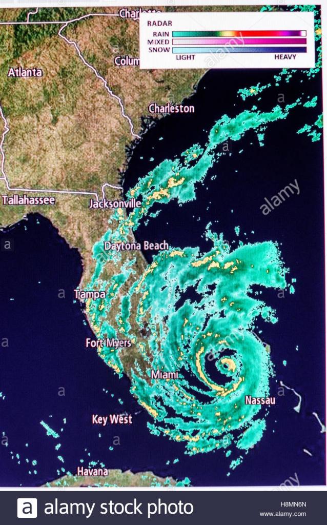 Miami Florida Beach Computer Monitor Intellicast Weather Radar - South Florida Radar Map