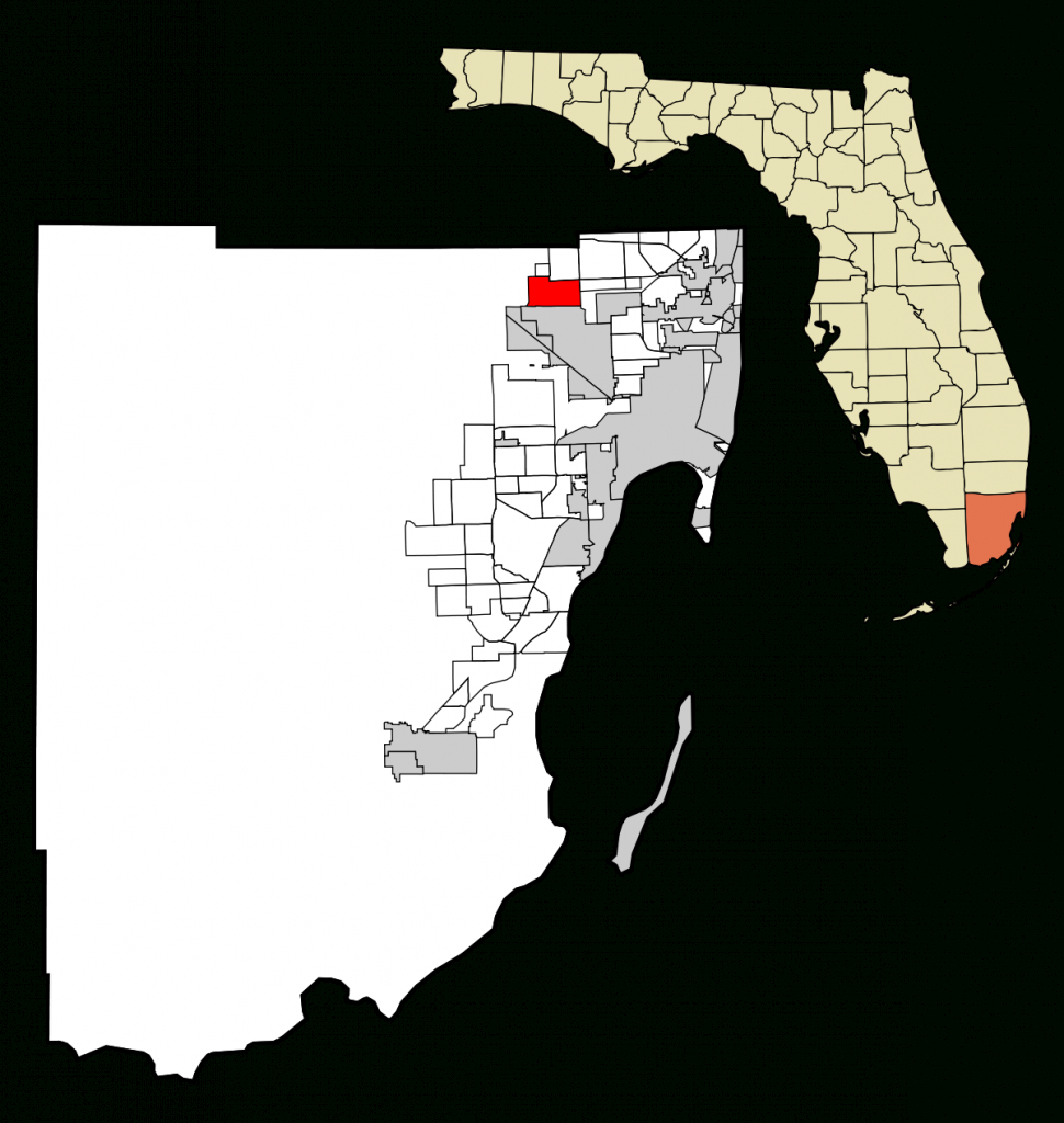 Miami Lakes, Florida - Wikipedia - Miami Lakes Florida Map