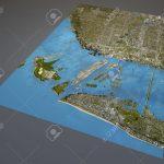 Miami Map, Satellite View, Aerial View, Florida, United States Stock   Satellite Map Of Florida