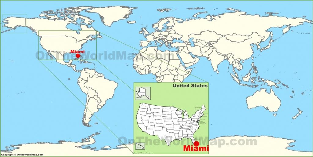 Miami On The World Map - Miami Florida Map