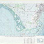 Miami Topographic Maps, Fl - Usgs Topo Quad 25080A1 At 1:250,000 Scale - Topographic Map Of South Florida