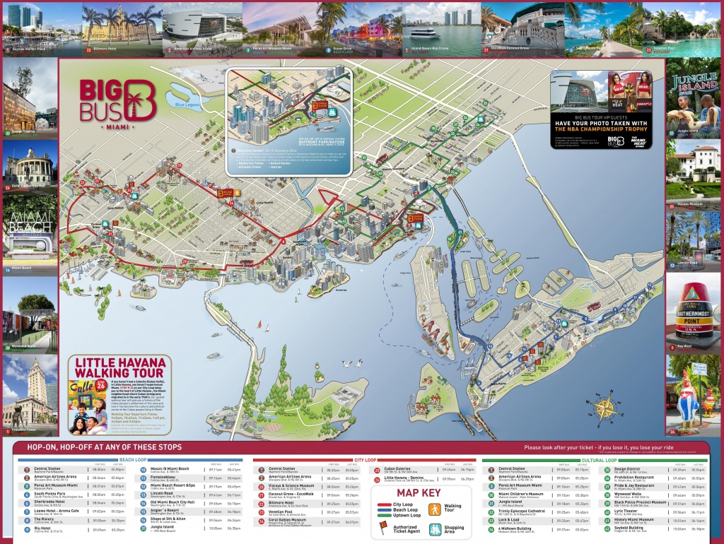Miami Tourist Attractions Map - Texas Sightseeing Map