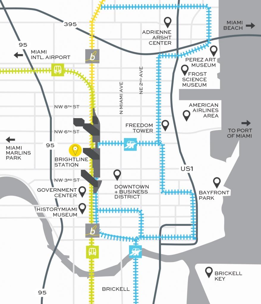Miami Train Station | Brightline Transit - Florida Brightline Map