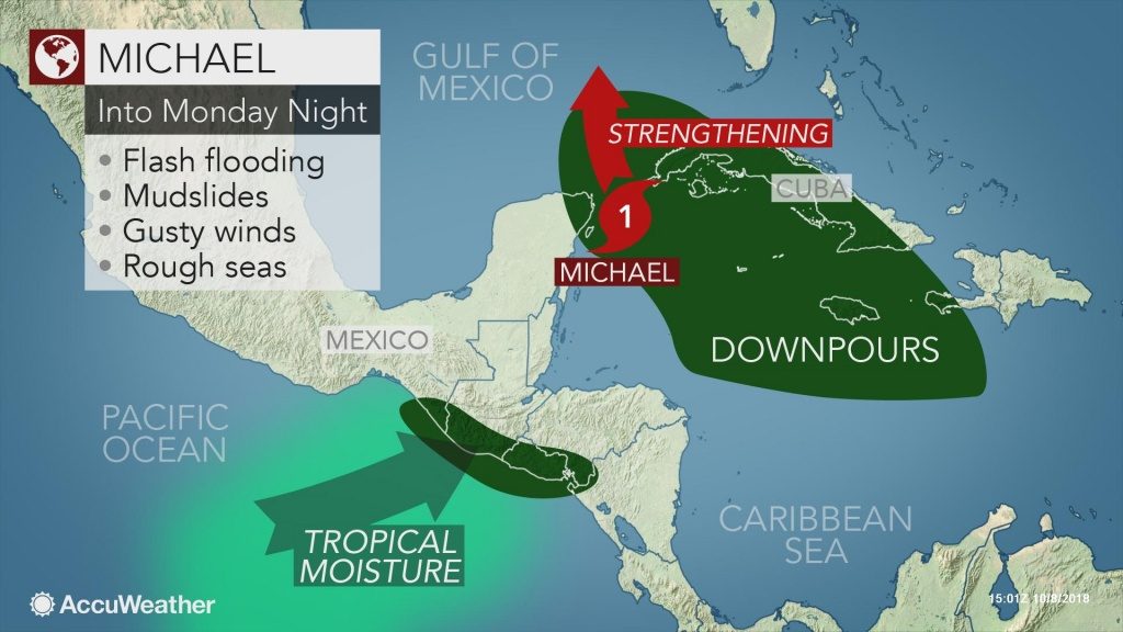 Michael Forms, Can Become A Hurricane Before Striking Us Gulf Coast - Florida Weather Map In Motion
