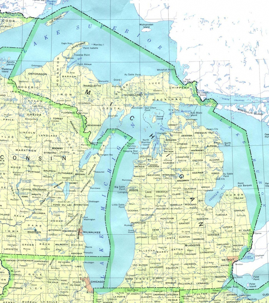 Michigan Maps - Perry-Castañeda Map Collection - Ut Library Online - Michigan River Map Printable