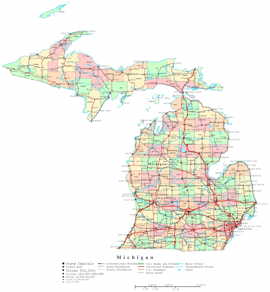 Michigan Printable Map Trend Map Of Michigan Upper Peninsula Cities - Printable Map Of Upper Peninsula Michigan