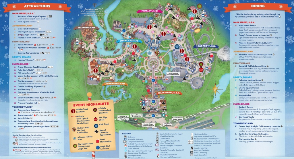 Mickey's Very Merry Christmas Party Map 2018 - Walt Disney World - Disney World Florida Map 2018