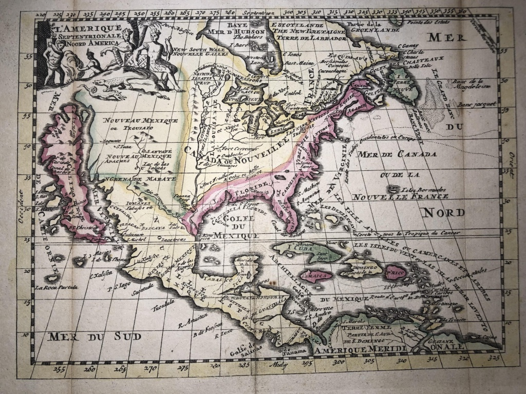 Mid 1700S Map Of North America Ft. California Island : Mapporn - Map Of Mid California