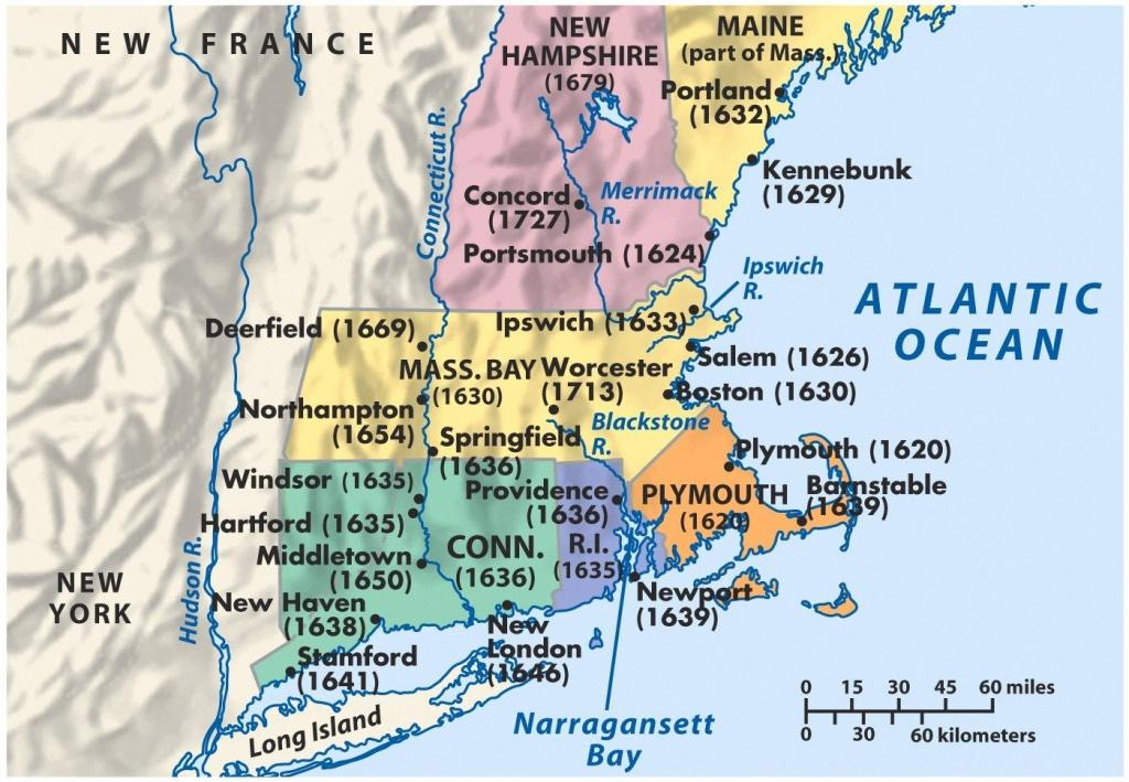 Mid Atlantic Colonies |  Colonies Middle Colonies Puritan - New England Colonies Map Printable