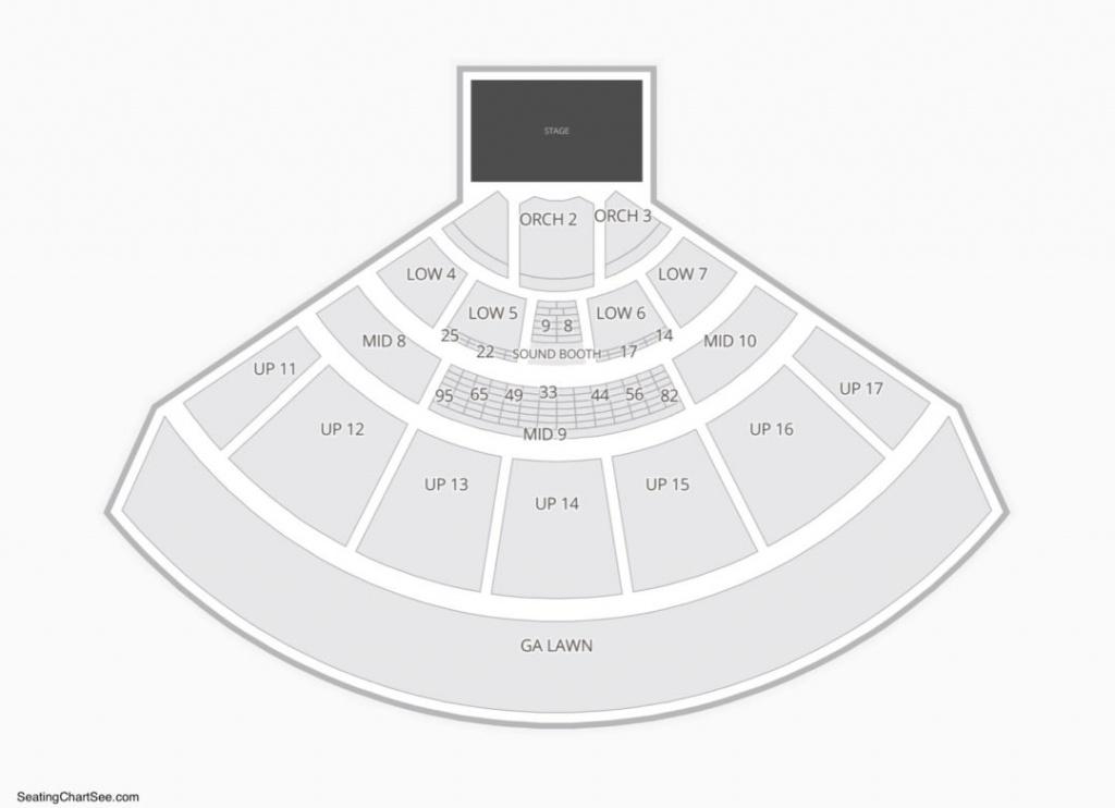 Midflorida Credit Union Amphitheatre Seating Chart | Seating Charts - Mid Florida Amphitheater Parking Map
