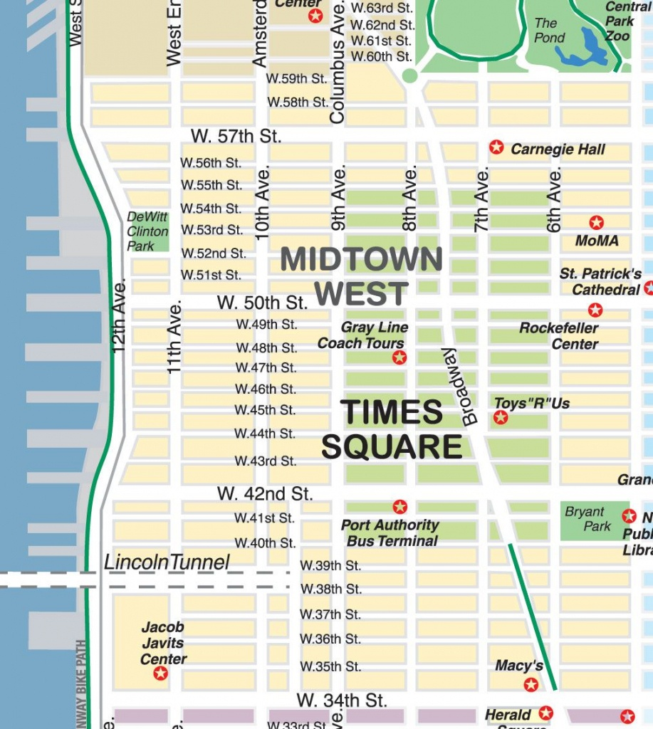 Midtown Stores Map   New York City Maps And Neighborhood Guide (City - Map Of Midtown Manhattan Printable