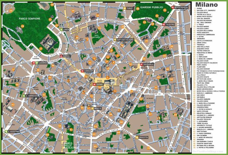 Printable Map Of Milan City Centre
