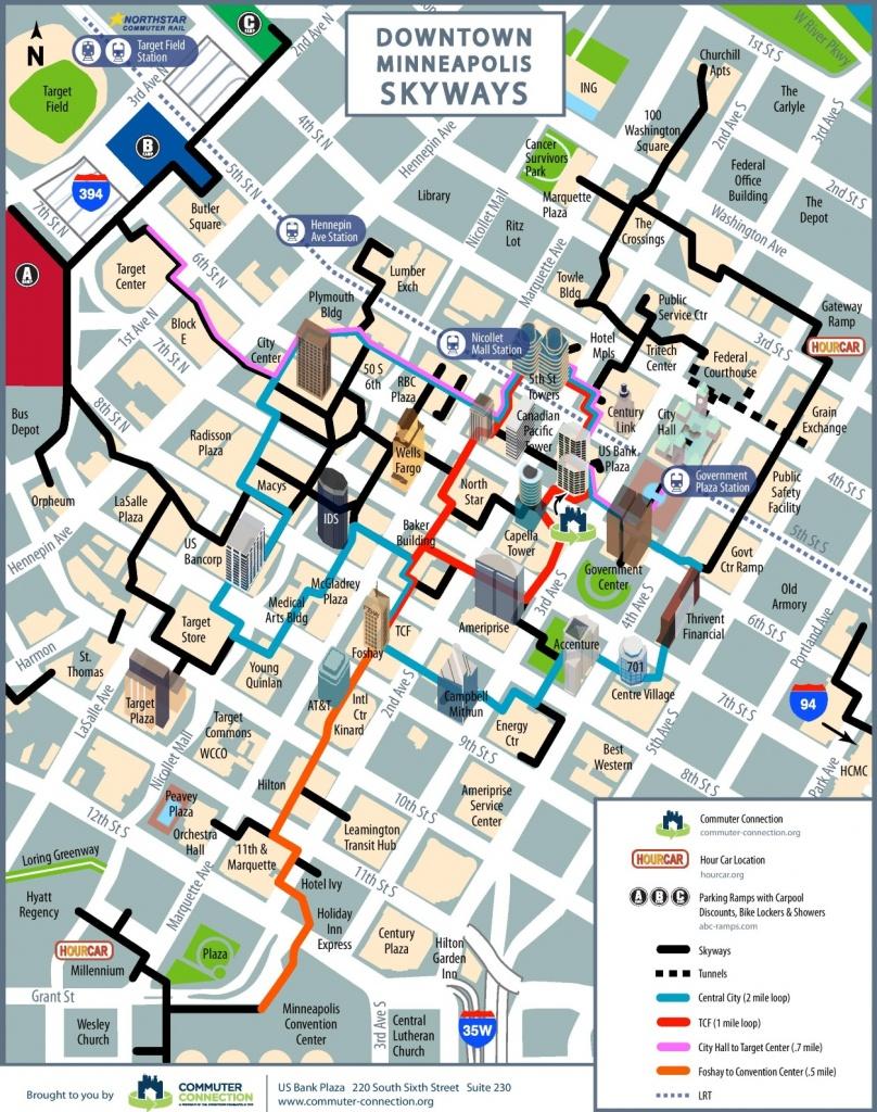 Minneapolis Skyway Map - Minneapolis Skyway Map Printable