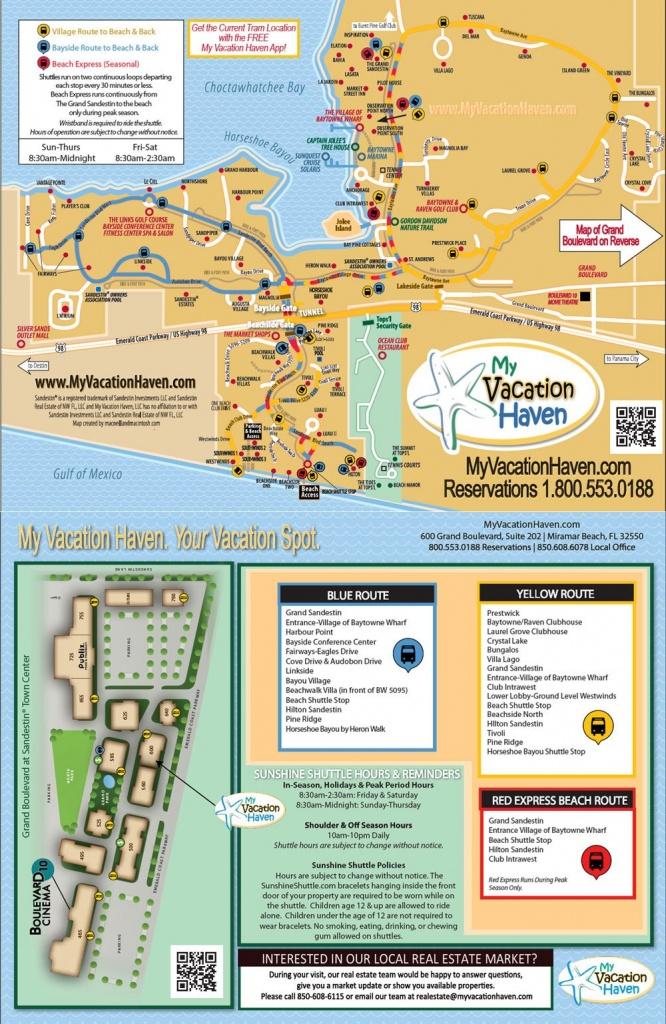 Miramar Beach Florida Sunshine Shuttle   My Vacation Haven - Sandestin Florida Map