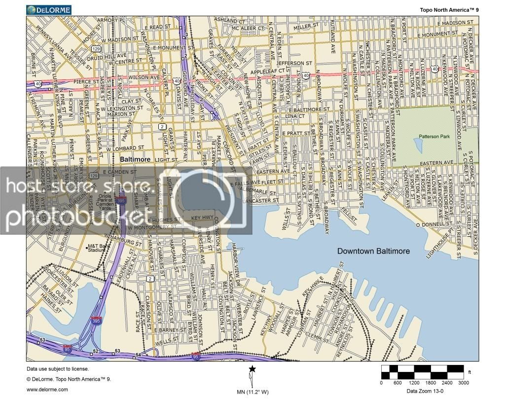 Miscellaneous Posts: Downtown Baltimore And Inner Harbor Map - Printable Map Of Baltimore