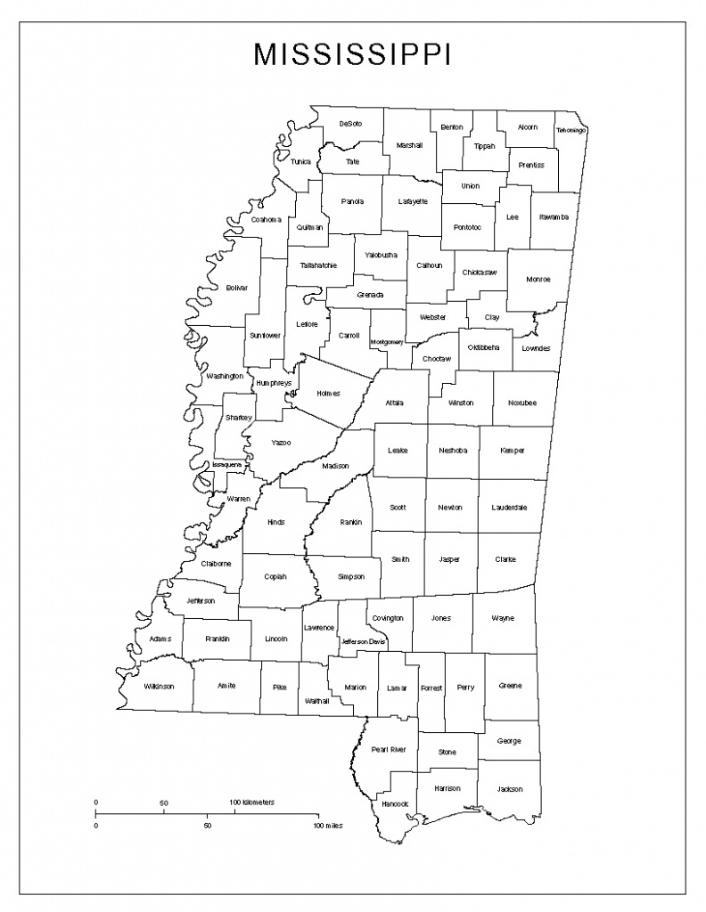 Mississippi Labeled Map - Printable Map Of Ms