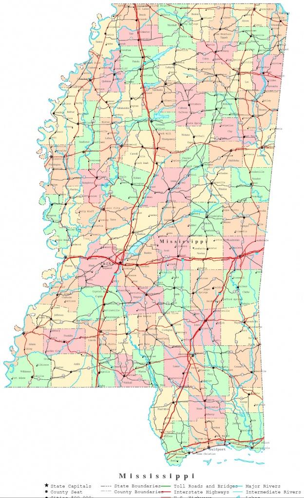 Mississippi Printable Map - Printable Map Of Mississippi
