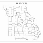 Missouri Blank Map   Printable Blank Map Of Missouri