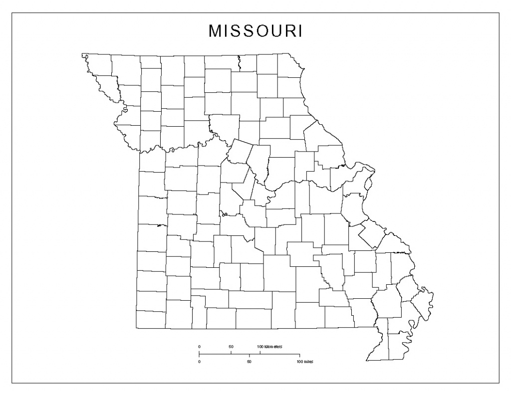 Missouri Blank Map - Printable Blank Map Of Missouri