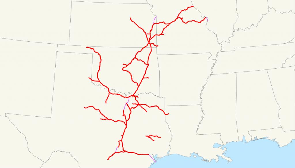Missouri–Kansas–Texas Railroad - Wikipedia - Katy Texas Map